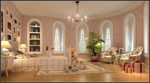 简约欧式卧室装修图片