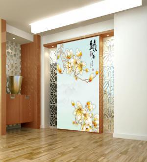 彩雕玄关背景墙