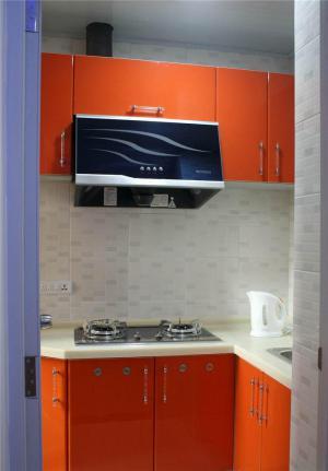 橘色简易厨柜