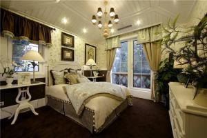 简易带飘窗的卧室装修图片