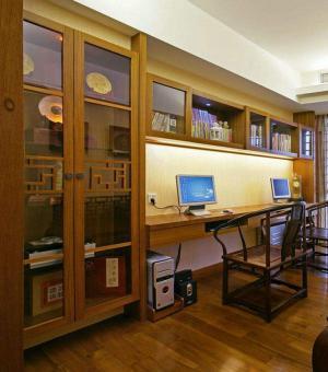 双人书房书柜效果图大全2
