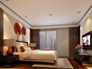 中式电视墙装修效果图大全别墅卧室