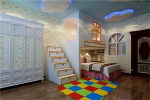 大胆设计儿童房双层床效果