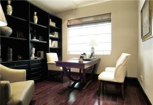 书桌书柜组合效果图片与价