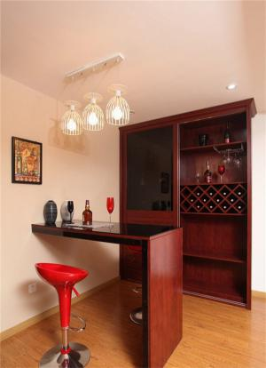 家庭酒柜装修红木吧台家具