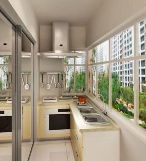 阳台改厨房效果图空间效果