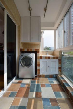 洗衣机放阳台效果图作品