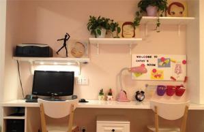 儿童转角书桌双人设计
