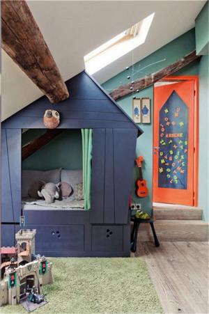 创意儿童房房屋榻榻米
