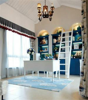 地中海欧式书柜套装