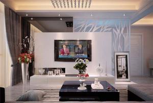 新古典挂墙式电视柜