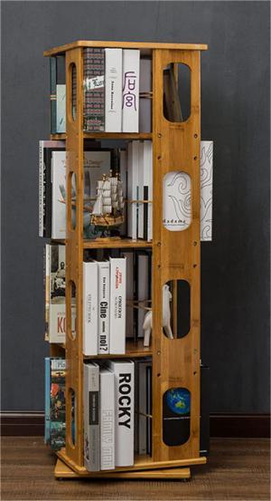 立式旋转折叠书柜
