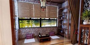 中式家装阳台榻榻米装修