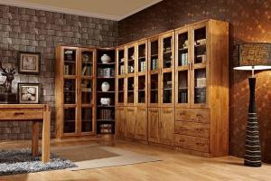 鸟柏木中式书柜