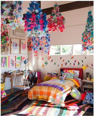 绚丽儿童房墙纸效果图