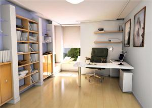 高清无水印现代简约书房装修效果图