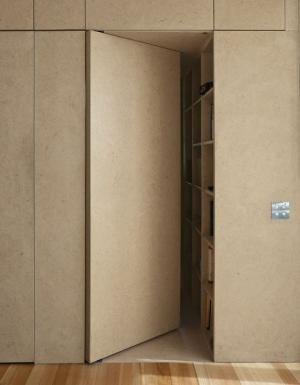 简约复古卧室隐形门装修效