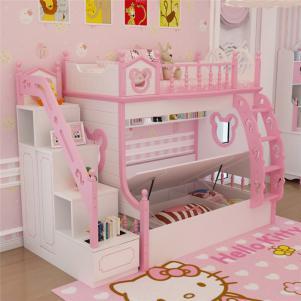 韩式套房儿童房双层床效果