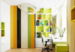 自然主义儿童书房装修设计