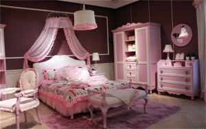 粉色系列儿童房家装样板间