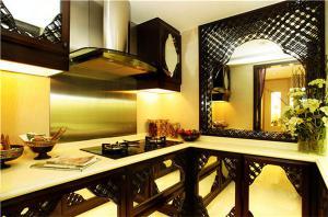 新中式风格吊顶橱柜分享