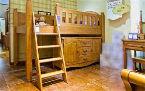 儿童房双层床效果图家具免