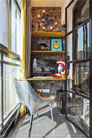 阳台改书房效果图装修设计案例