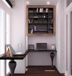 简单实用的阳台改书房效果图