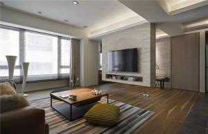 客厅电视墙效果图家具图片