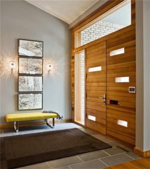 玄关客厅隐形门装修效果图