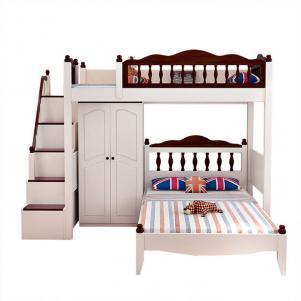 双人上下床带衣柜家具定做
