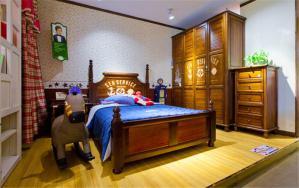 美式家具儿童房墙纸效果图