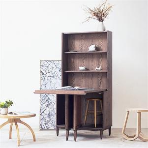 橡木折叠书柜餐边柜