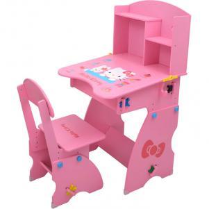 木质女孩儿童书桌