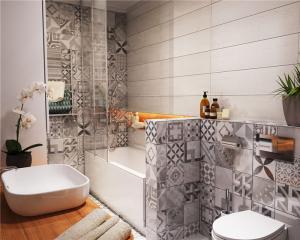 小户型60平米装修浴室摆