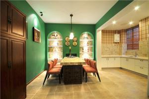 现代小客厅餐桌