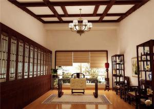 高清无水印中式书房装修效果图