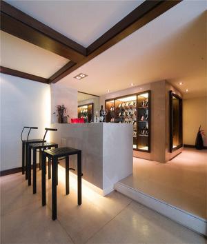 客厅酒柜装修与客厅吧台设