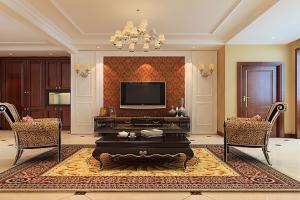 三居室简欧风格电视背景墙