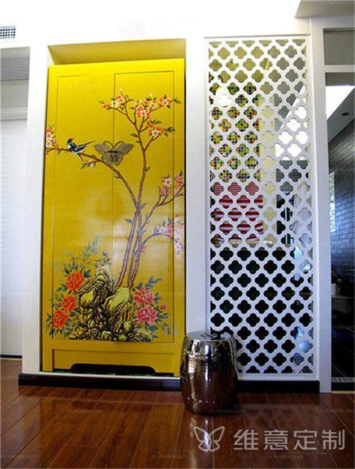 新中式房屋装修玄关搭配