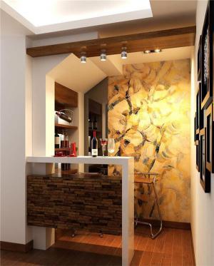 中式吧台酒柜设计图