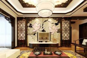 中式电视墙装修效果图大全作品