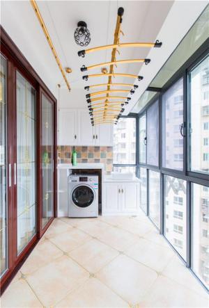 阳台改造效果图洗衣池设计