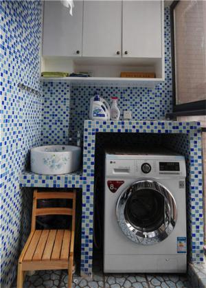 洗衣机放阳台效果图图片分