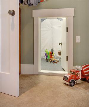 儿童房卧室隐形门装修效果
