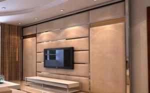 奢华客厅隐形门装修效果图