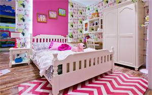 粉色硅藻泥儿童房效果图