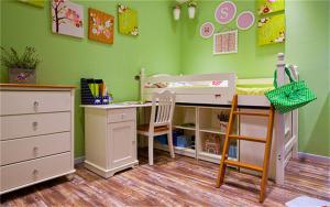 高低儿童房家具床