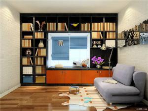 完美的飘窗书柜