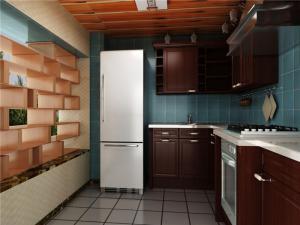 棕色简易厨柜